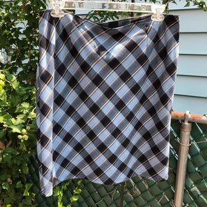 Style & Co plaid skirt